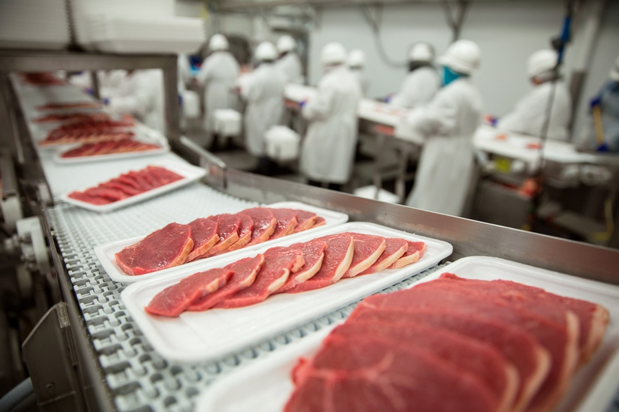 Packaging Training in Meat Processing Plant