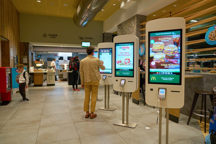 self service kiosk inside McDonald's restaurant in Venice